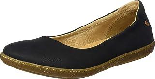 El Naturalista 女士 N5300 Pleasant 黑色/珊瑚色芭蕾舞鞋