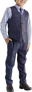 Andy & Evan 男孩正式 4 件套套装,带背心、领带、衬衫和裤子