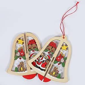 luyue 装饰圣诞礼物圣诞木质装饰 present 文章饰品适用于家庭*店桌面