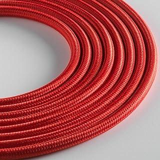 Klartext - 用于照明的圆形织物电缆,3 x 0.75 毫米,红色,5 米。 *大防震*!
