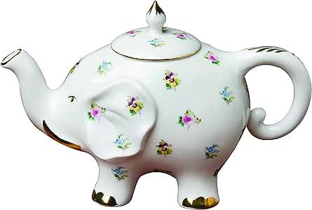 Grace Teaware 精细陶瓷快乐大象 Floral Pansy Teapot CM461AK-MF174-1