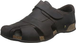 Panama Jack 男 凉鞋 Fletcher Basics C1 Napa Grass Marron/Brown(亚马逊进口直采,西班牙品牌)