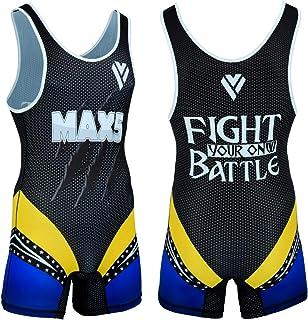 Max5 专业摔跤汗衫专业腿部风格