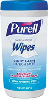 Purell 手部*湿巾,清爽香味(40 张/罐装,6 张/盒装),1 盒装