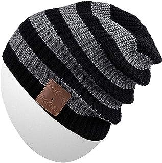 Rotibox 蓝牙无檐帽,冬季户外运动针织帽带无线立体声耳机耳机音箱麦克风免提手兼容 iPhone Samsung Android 手机,圣诞礼物