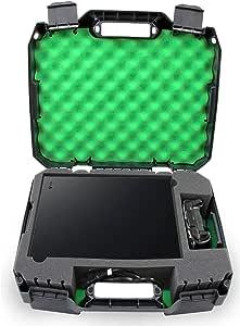 CASEMATIX 控制台保护壳适合 Xbox One X 1TB、Project Scorpion 版本、One X 控制器、HDMI 线缆和游戏 - 专为旅行游戏者设计 - 耐冲击外壳
