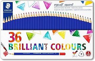Staedtler 施德楼 Ergosoft 水性彩铅156 SB12 三角水彩铅笔 不同颜色 Pack of 36 多色