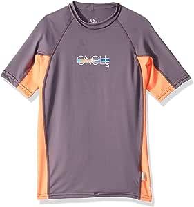 O'Neill Wetsuits UV Sun Protection Girls Skins Short Sleeve Crew Rashguard