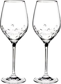NARUMI 鸣海 对装 红酒玻璃杯 Starflower系列 透明 360cc(约360ml) 2客组合装 红酒玻璃杯 GW4156-62723A