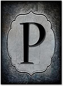 Trademark Fine Art 字母 P LightBoxJournal 24x32 ALI10355-C2432GG