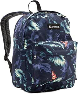 Everest Classic Pattern Backpack, Dark Tropic, One Size