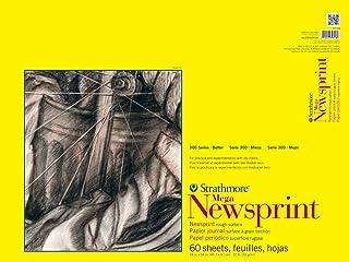 Strathmore 307-318 300 系列 Mega Newsprint 垫,大约 45.72 厘米 x 60.96 厘米胶带装订,60 张