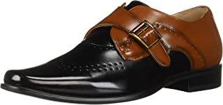 STACY ADAMS Kids' Saxton Wingtip Perfed Monk Strap Loafer