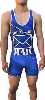 TRI-TITANS Full Send Wrestling Singlet - Folkstyle / Freestyle/Greco - 蓝色