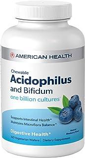 American Health - 嗜酸性Chewable以Bifidum自然蓝莓味道 - 100晶片
