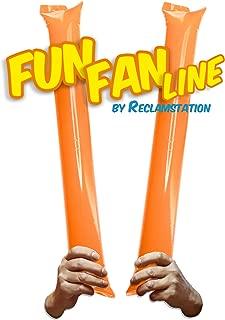 FUN FAN LINE – 60 对竹制薄膜棒。 体育赛事的Noise Makers Boom Sticks for Cheerleading。 体育场或派对的噪音棒。 橙色
