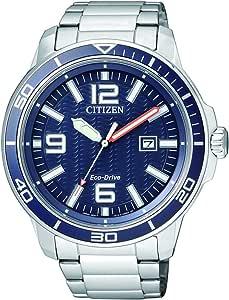 Citizen 西铁城 男士-手表 指针式 石英 不锈钢 AW1520-51L