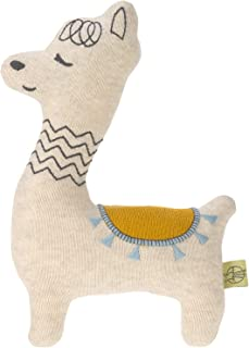 LÄSSIG 婴儿针织玩具,带拨浪鼓棉/Glama Lama 蓝色
