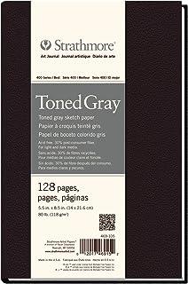 Strathmore 469-105 精装艺术杂志,128 页,5.5 x 8.5 英寸,色调灰色