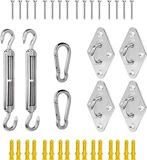 26ELE 遮阳帆硬件套件适用于方形/矩形/三角遮阳帆,超重型,可悬挂遮阳帆
