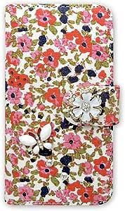 whitenuts 保护壳 手册式 花朵图案 蝴蝶装饰WN-OD160583 1_ iPhone4s 粉色