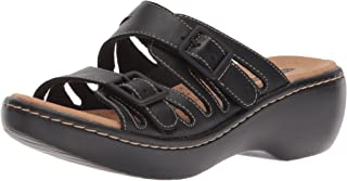 CLARKS Delana Liri 女式坡跟凉鞋