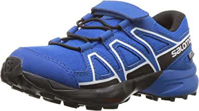 Salomon Unisex Kid's SPEEDCROSS CSWP K Trail Running Shoes, Blue Indigo Bunting/Sky Diver/White), 9 (27 EU)