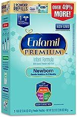 美赞臣Enfamil 新生儿 1段婴儿配方奶粉 33.2盎司(941g)/盒 填充纸盒包装