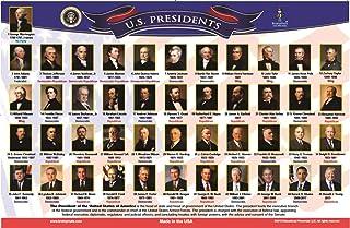 编织垫 - 儿童教育餐垫 - (美国总统)-双面-可洗 -美国制造