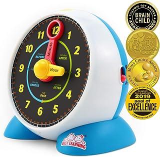 BEST LEARNING 学习时钟 - Educational Talking Learn to Tell Time 发光玩具测验*模式幼儿儿童