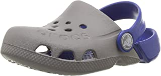 Crocs 卡骆驰 儿童洞洞鞋 Electro系列 儿童元气平底休闲鞋凉拖鞋 深蓝色/电光蓝色 中童1 M US Electro Kids