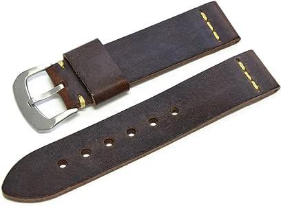 CASSIS(カシス) 腕時計アクセサリ 天然皮革??- 深棕色 U1007333034022