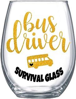 趣味校车司机表演礼物女式 567 毫升不锈钢酒杯 0172