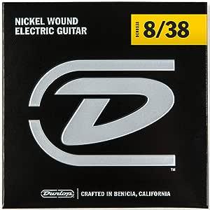 Dunlop DEN0838 超轻镍缠绕电吉他弦 (0.08-0.38) 6 根线