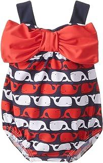Mud Pie 女童鲸鱼图案泳衣