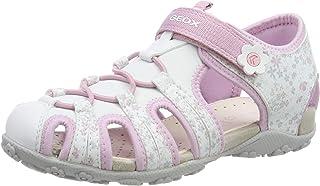 Geox 女童 Jr 凉鞋 Roxanne B 闭趾