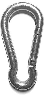 不锈钢 316 弹簧钩 无眼扣 5/16 英寸(8 毫米)海洋级