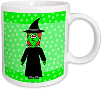 3dRose Cute Wicked Witch Gift Ceramic Mug, 11-Ounce