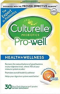 Culturelle 康萃樂 Pro-Well 每日益生元膳食補充劑| 恢復吸收道中良好成分的天然平衡* | 經驗證有效的益生元| 30粒素食膠囊