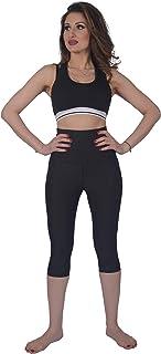 S.G.M 女式锻炼瑜伽高腰 - 七分裤打底裤,收腹打底裤