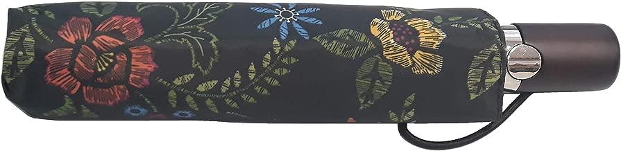Totes 限量版自动打开雨伞,带 NeverWet 技术,106.68 cm 遮篷花卉
