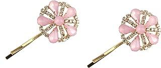 Caravan 手工制作粉色和施华洛世奇莱石波比别针金色调,0.5 盎司