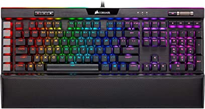 CORSAIR K95 RGB Platinum XT 機械游戲鍵盤,背光紅綠藍 LED 櫻桃色 MX RGB 藍,黑色