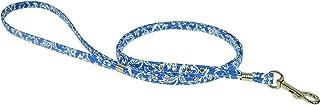 Evans Collars 宝石扁平牵引线,10.16 厘米,花缎,蓝色