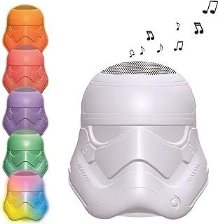 Lexibook Decotech 星球大战 Rey Poe Finn Bb-8 突击队蓝牙灯扬声器,变色,无线,可充电电池,白色/多色,BTL710SW