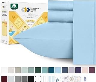 California Design Den 400 支 天蓝色 Queen CDD-400TC-LS-Cotton-$P