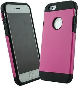 Boho Tronics ® 纤薄手机壳带护甲保护系列适用于 Apple iPhone 6 (4.7) 全新 iPhone 6 手机壳 [Best-Selling Case]4326463654 Pink/Black Rubber