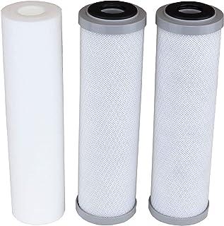 兼容 APEC 滤芯底部 3 过滤器,适用于 ROES-50、ROES-75、RO-45、RO-90、RO-PH90、RO-PERM、RO-Pump、RO-Hi、WFS-1000、ROES-UV75、ROES-PH75、ROES-PHUV75、ROES-UV75-SS、1 沉淀物、2 碳