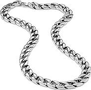 Urban Jewelry 男士强劲不锈钢链式项链超厚宽(银色,11 毫米宽,1821,23 英寸)