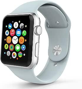 Apple Watch表带 MoKo苹果iWatch 42mm智能手表运动软硅胶表带 宝石绿 共24色选择(升级版三节装,增加一条同款长孔表带备用)